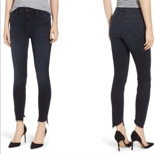 MOTHER The Stunner Skinny Ankle Fray Two Step Jean